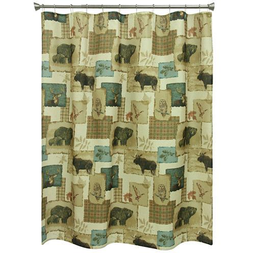 Bacova Guild Tetons Print Shower Curtain