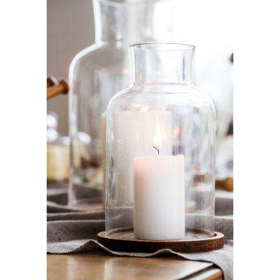 Sagaform Oval Oak 2-pc. Candle Holder