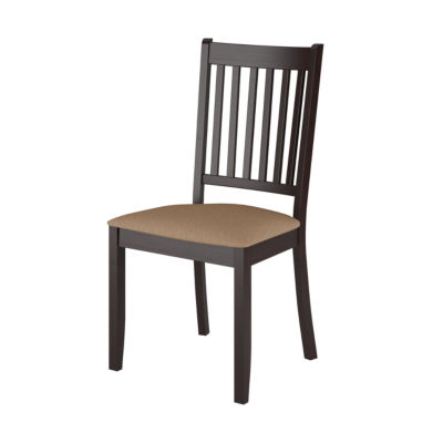 Atwood Cappuccino Stained Dining Chairs with Microfiber Seat- Set of 2
