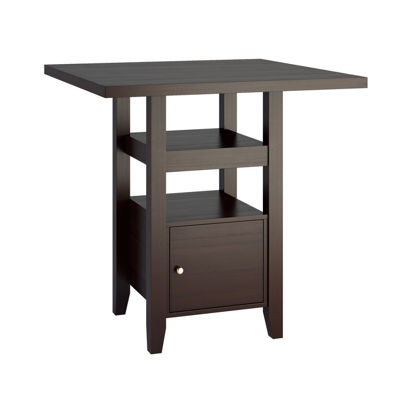 Bistro Counter Height Dining Table with Cabinet