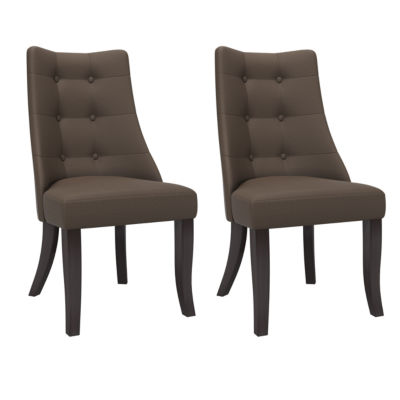 Antonio Button Tufted Dining Chairs Set Of 2