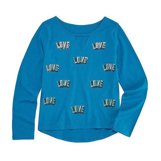 Arizona Graphic T-Shirt-Big Kid Girls Plus