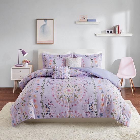 Intelligent Design Thea Floral Comforter Set