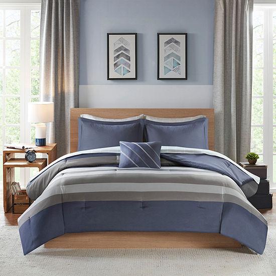Intelligent Design James Stripes Complete Bed and Sheet Set