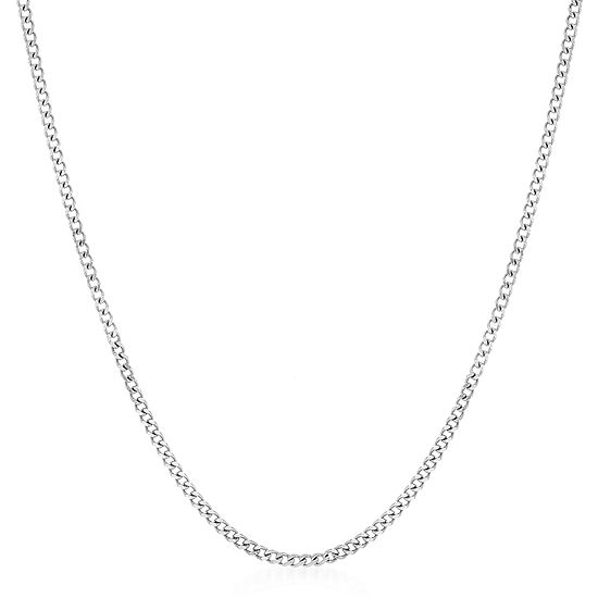 Inspired By You Plus_Size Sterling Silver 22 Inch Solid Curb Chain Necklace
