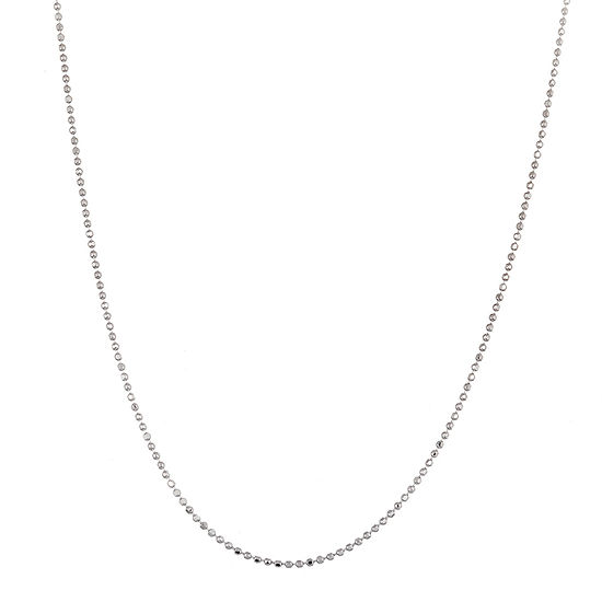 Inspired By You Plus_Size Sterling Silver 18 Inch Solid Bead Chain Necklace