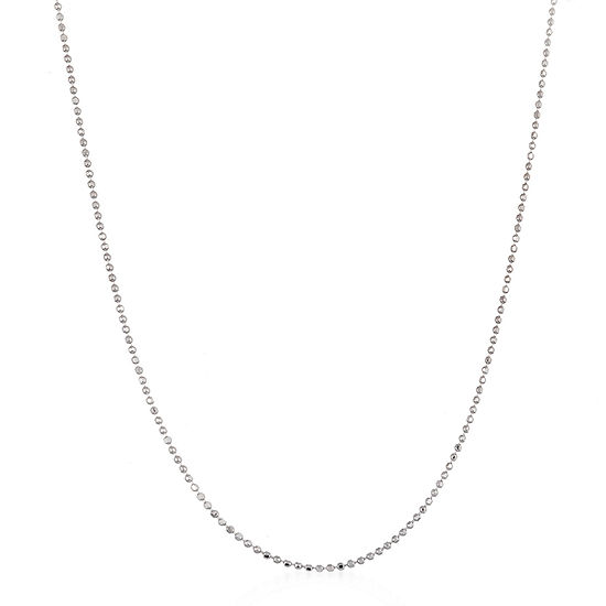 Inspired By You Sterling Silver 24 Inch Solid Bead Chain Necklace