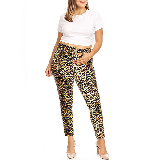 White Mark Womens Mid Rise Skinny Stretch Jeggings - Plus