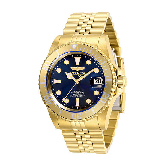 Invicta Pro Diver Mens Automatic Gold Tone Stainless Steel Bracelet Watch - 30097