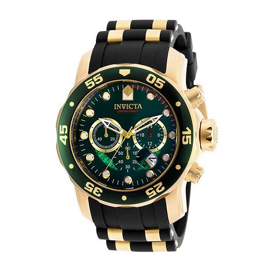 Invicta Pro Diver Mens Chronograph Black Strap Watch-6984