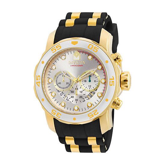 Invicta Pro Diver Mens Chronograph Black Strap Watch 6985
