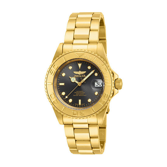 Invicta Pro Diver Mens Automatic Gold Tone Stainless Steel Bracelet Watch - 15848