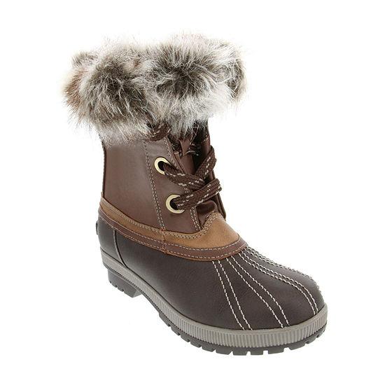 Sugar Womens Maya Snow Flat Heel Boots