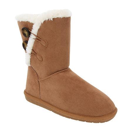 Sugar Womens Marty Winter Flat Heel Boots, 10 Medium, Brown