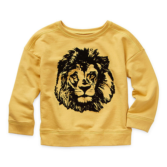 Okie Dokie Toddler Boys Crew Neck Long Sleeve Sweatshirt