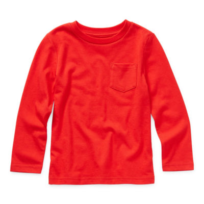 Okie Dokie Toddler Boys Crew Neck Long Sleeve T-Shirt