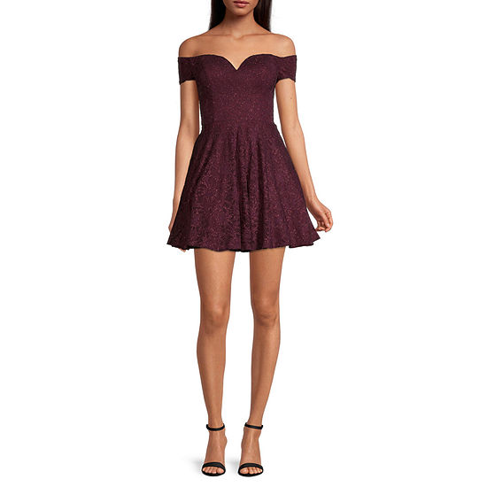 B. Smart-Juniors Off The Shoudler Lace Fit & Flare Dress