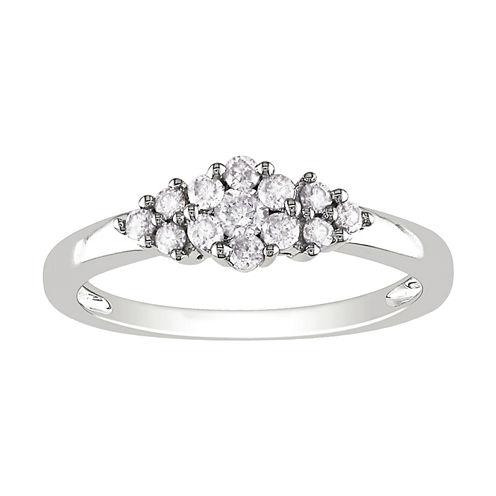 ¼ CT. T.W. Diamond Cluster Ring