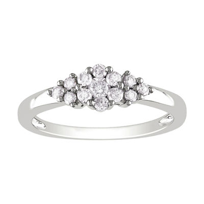 ¼ CT. T.W. Diamond Cluster Ring
