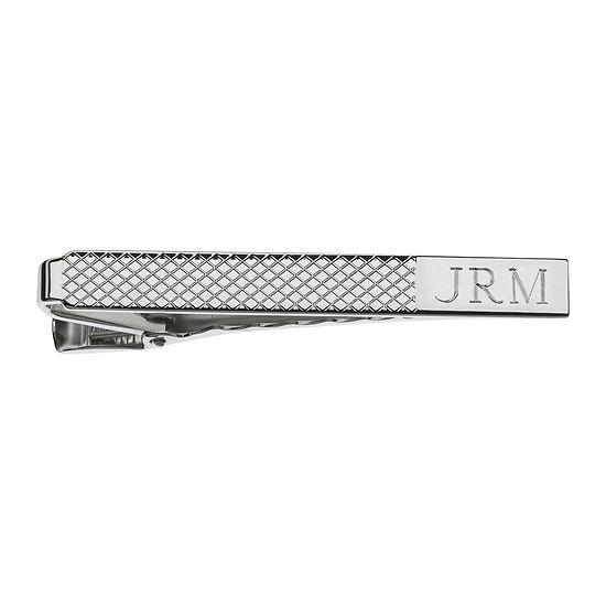 Personalized Grid Pattern Tie Bar