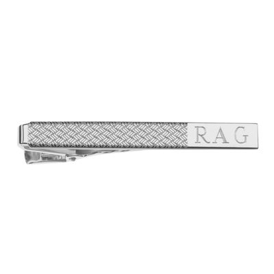 Personalized Wave Pattern Tie Bar