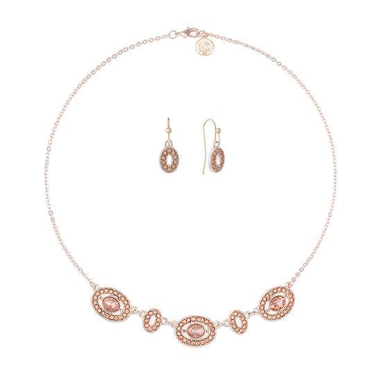 Liz Claiborne 2-pc. Pink Oval Jewelry Set
