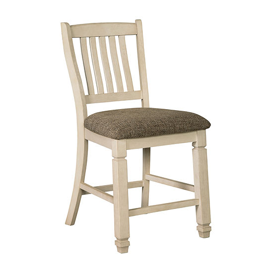 Signature Design by Ashley® Roanoke Set of 2 Upholstered Counter Height Stools