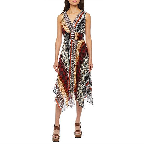 Rabbit Rabbit Rabbit Design Sleeveless Fit & Flare Dress