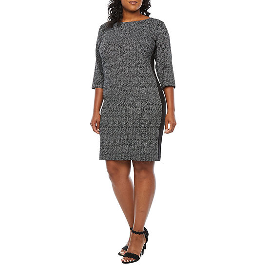 Alyx 3/4 Sleeve Sheath Dress-Plus