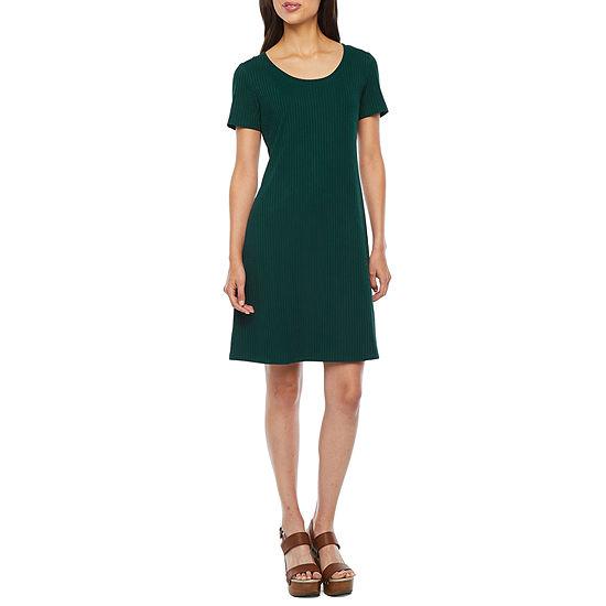 Ronni Nicole-Petite Short Sleeve Shift Dress