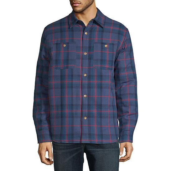 St. John's Bay Outdoor Flannel Lightweight Shirt Jacket