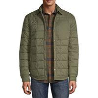 St. John's Bay Outdoor Quilted Lightweight Shirt Jacket (Fir Green)