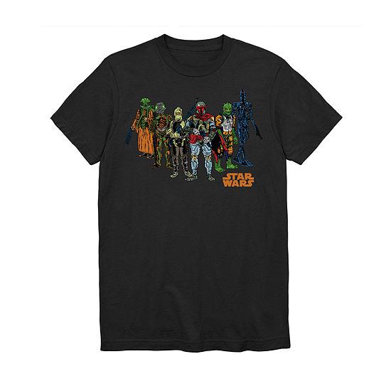 Mens Crew Neck Short Sleeve Star Wars Graphic T-Shirt
