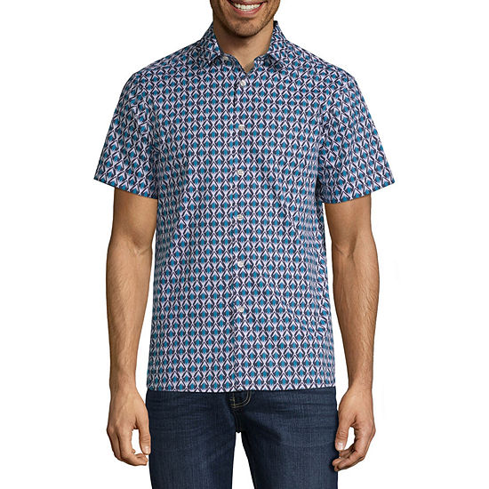 Axist Geo Tribal Print Short Sleeve Shirt
