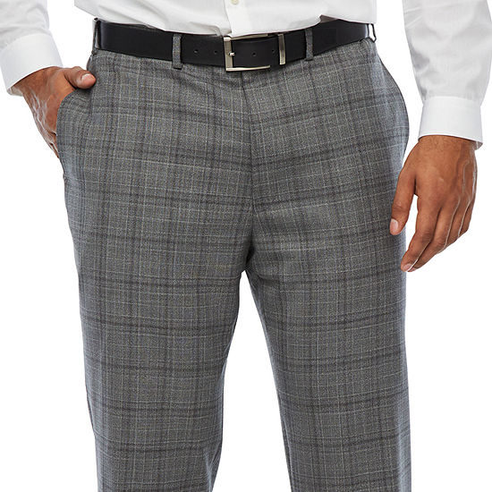 Collection by Michael Strahan  - Big and Tall Plaid Classic Fit Suit Pants