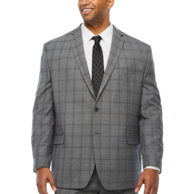 Collection by Michael Strahan -Big and Tall Plaid Classic Fit Suit Jacket