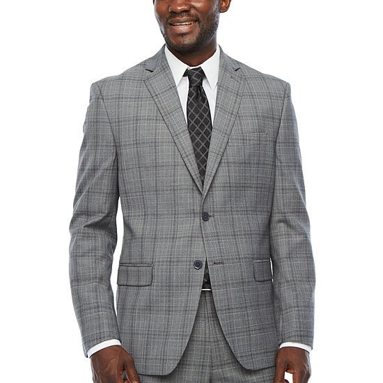 Collection by Michael Strahan  Coolmax Mens Plaid Classic Fit Suit Jacket
