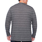 Msx By Michael Strahan-Big and Tall Mens Long Sleeve Henley Shirt