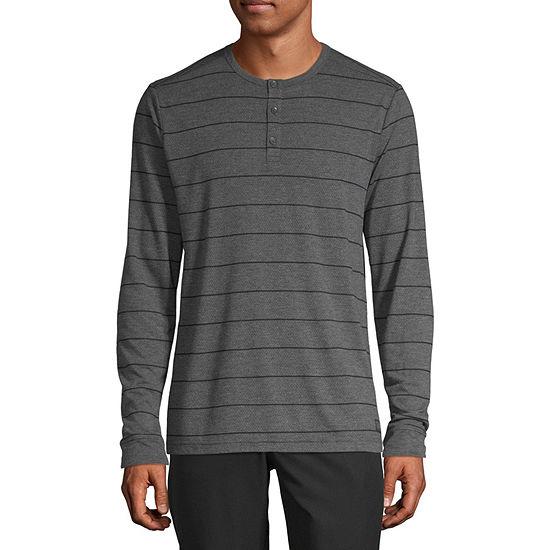 Msx By Michael Strahan Mens Long Sleeve Henley Shirt