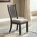Signature Design by Ashley® Set of 2 Hilton Slatted-Back Upholstered Dining Side Chairs