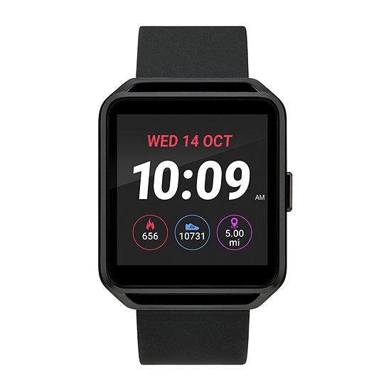 Iconnect By Timex Iconnect Unisex Black Smart Watch-Tw5m31200so