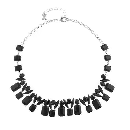 Mixit Black 16 Inch Cable Collar Necklace