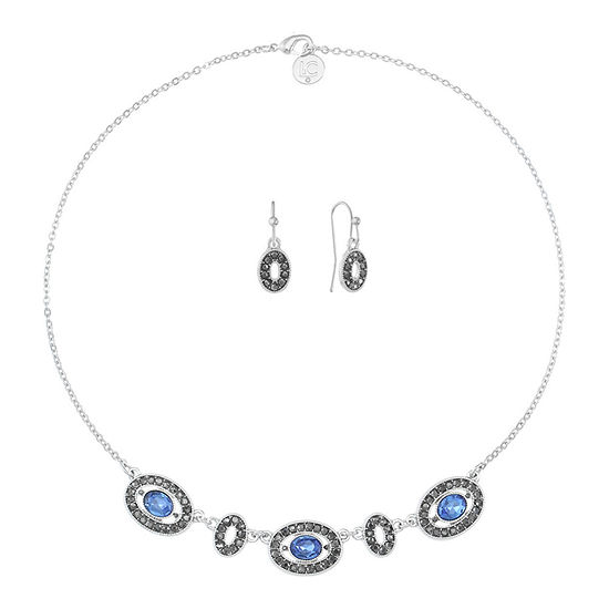 Liz Claiborne 2-pc. Blue Oval Jewelry Set