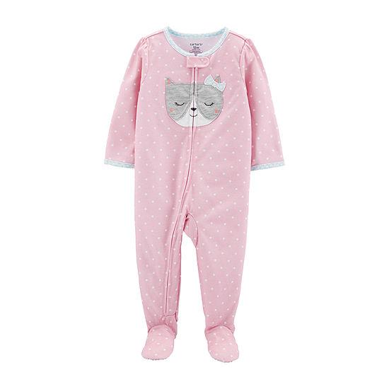Carters Girls One Piece Pajama Long Sleeve Round Neck