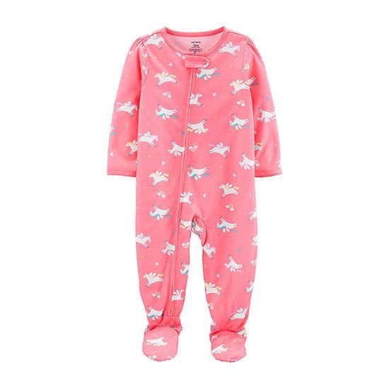 Carter's Girls One Piece Pajama Long Sleeve