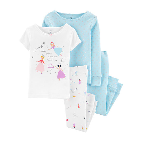 Carter's Baby Girls 4-pc. Pajama Set
