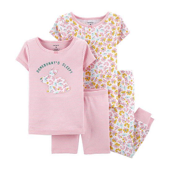 Carters 4 Pc Pajama Set Baby Girls