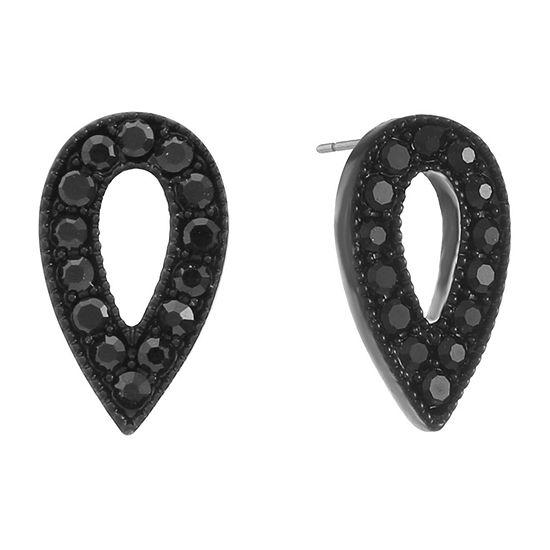 Liz Claiborne Black 16.5mm Stud Earrings