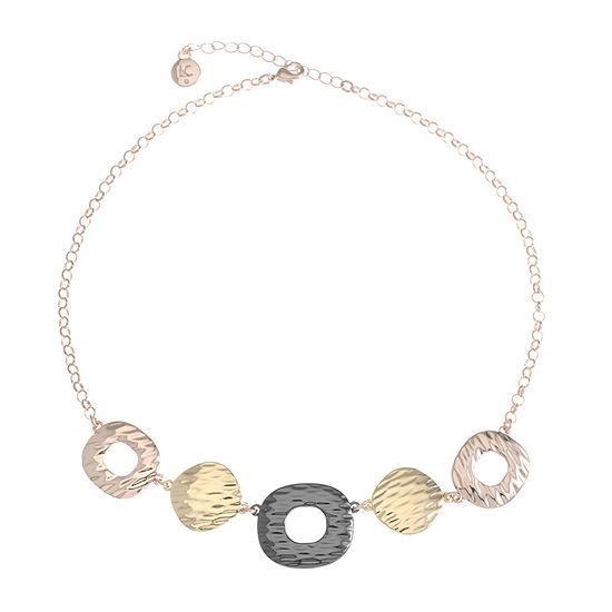 Liz Claiborne 17 Inch Cable Square Collar Necklace