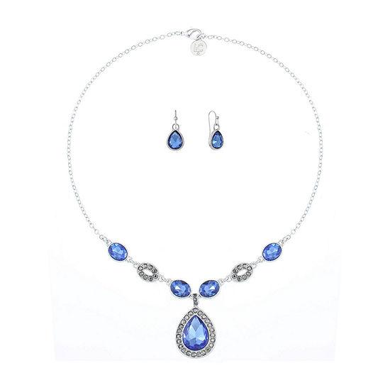 Liz Claiborne 2-pc. Blue Pear Jewelry Set